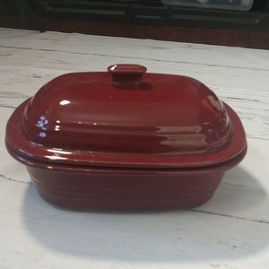 Pampered Chef Deep Covered Baker Cranberry